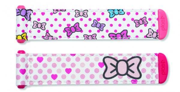 bow tie / white / pink